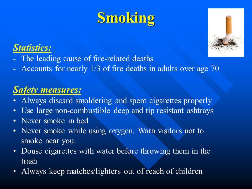 Smoking Statistics: Safety measures: