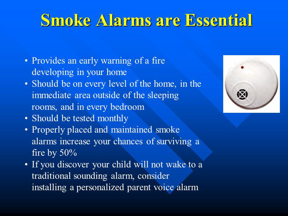 Smoke Alarms are Essential