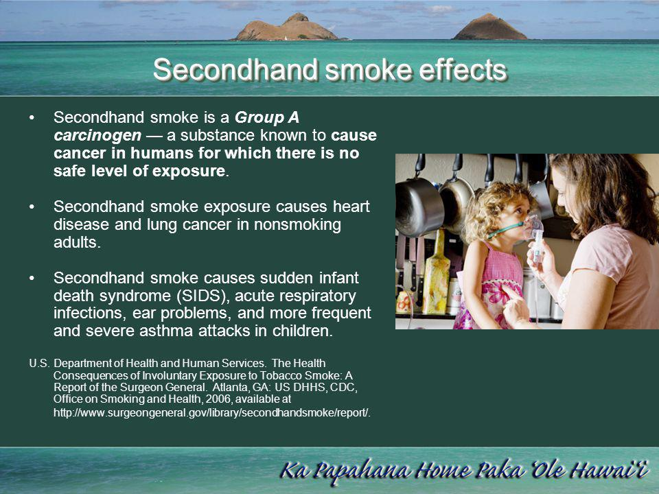 Secondhand smoke effects