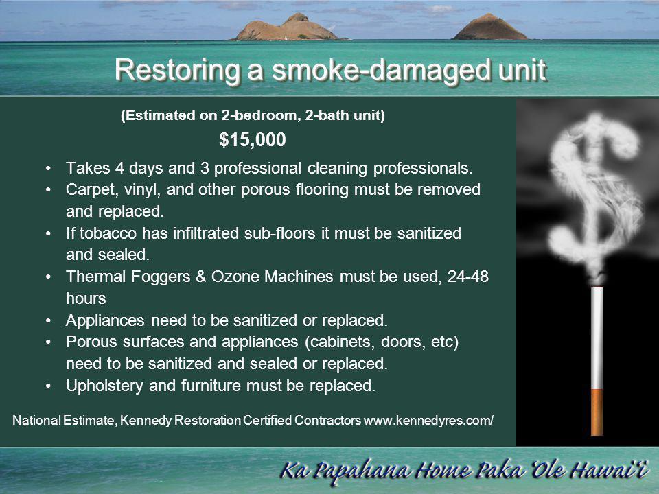 Restoring a smoke-damaged unit