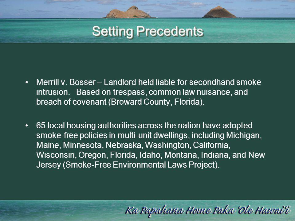 Setting Precedents