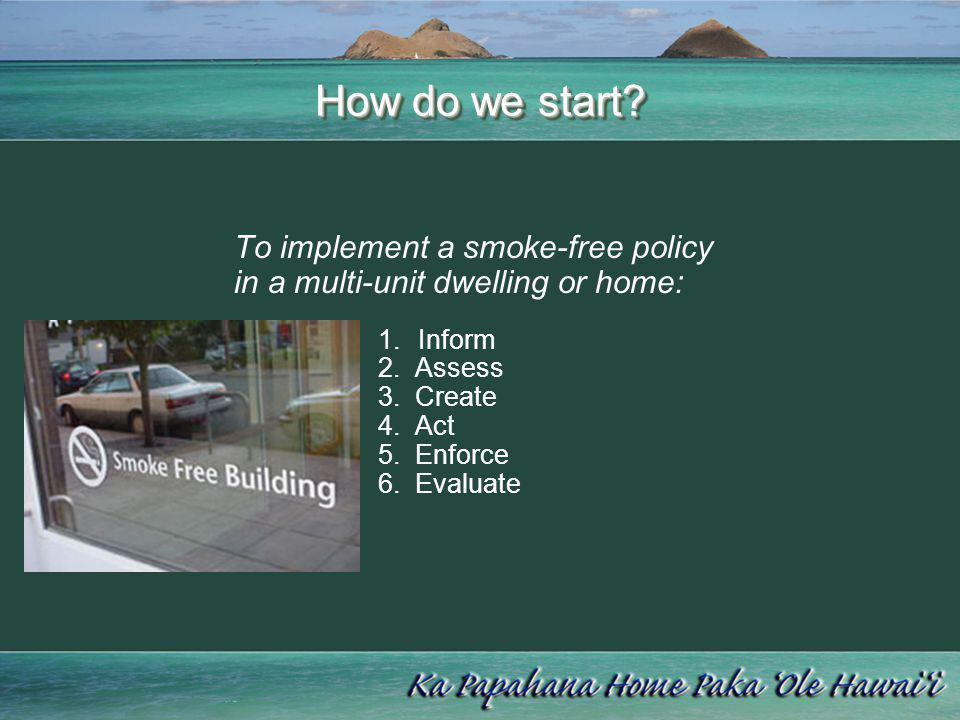 How do we start To implement a smoke-free policy