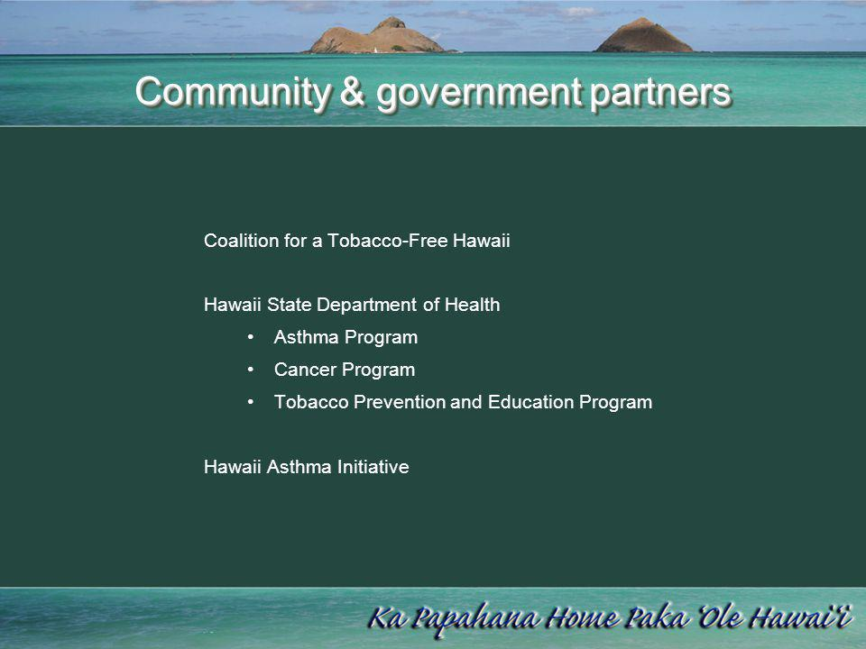 Community & government partners