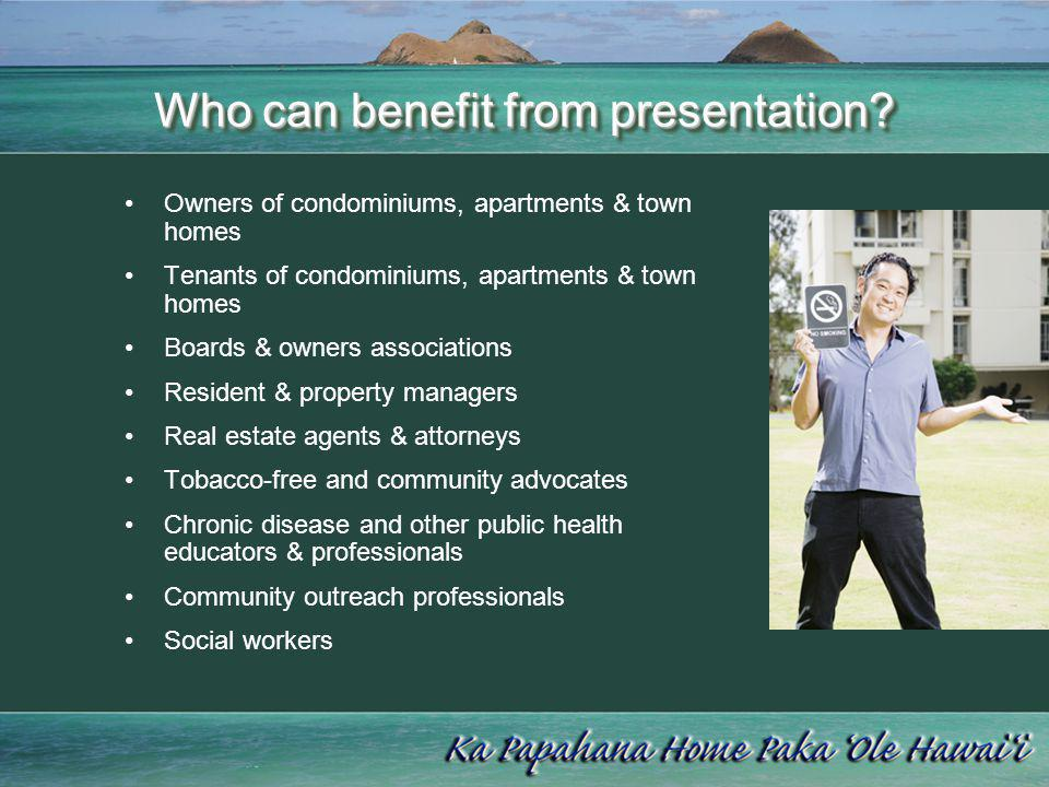 Who can benefit from presentation
