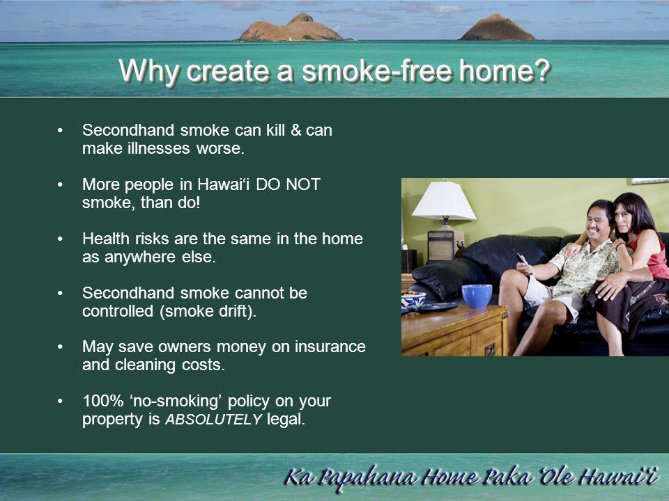 Why create a smoke-free home