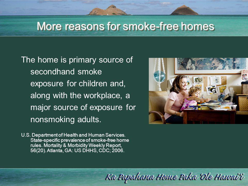 More reasons for smoke-free homes