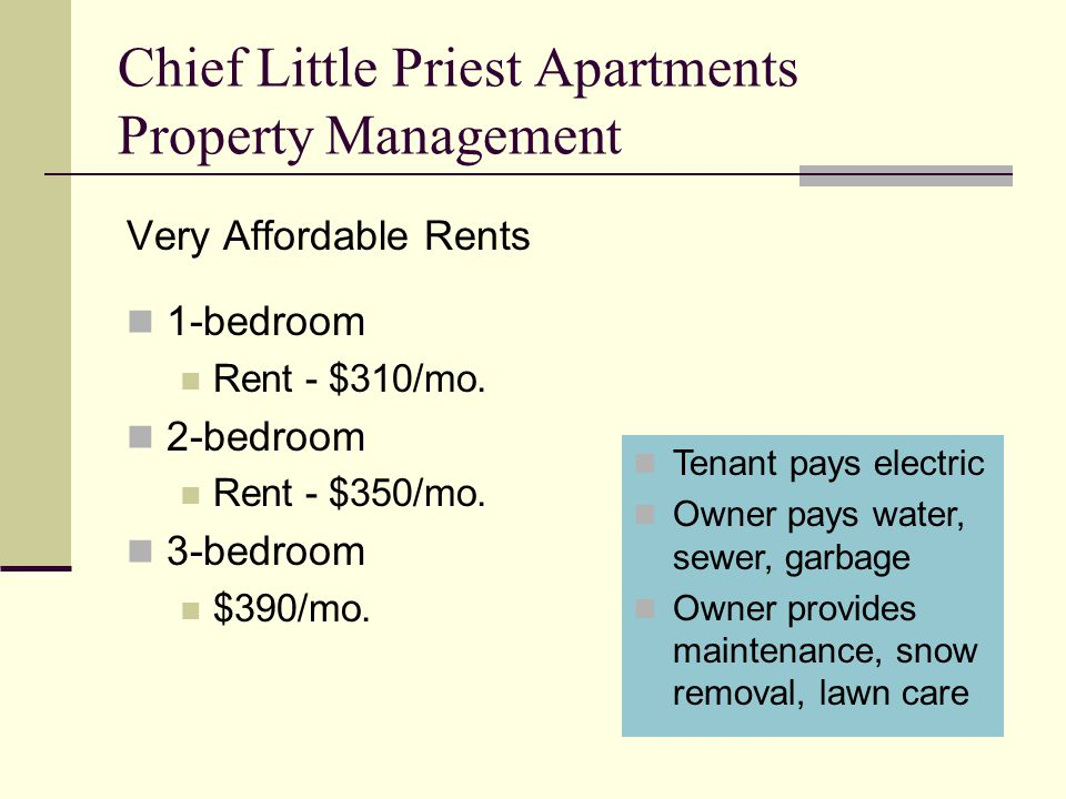 Chief Little Priest Apartments Property Management