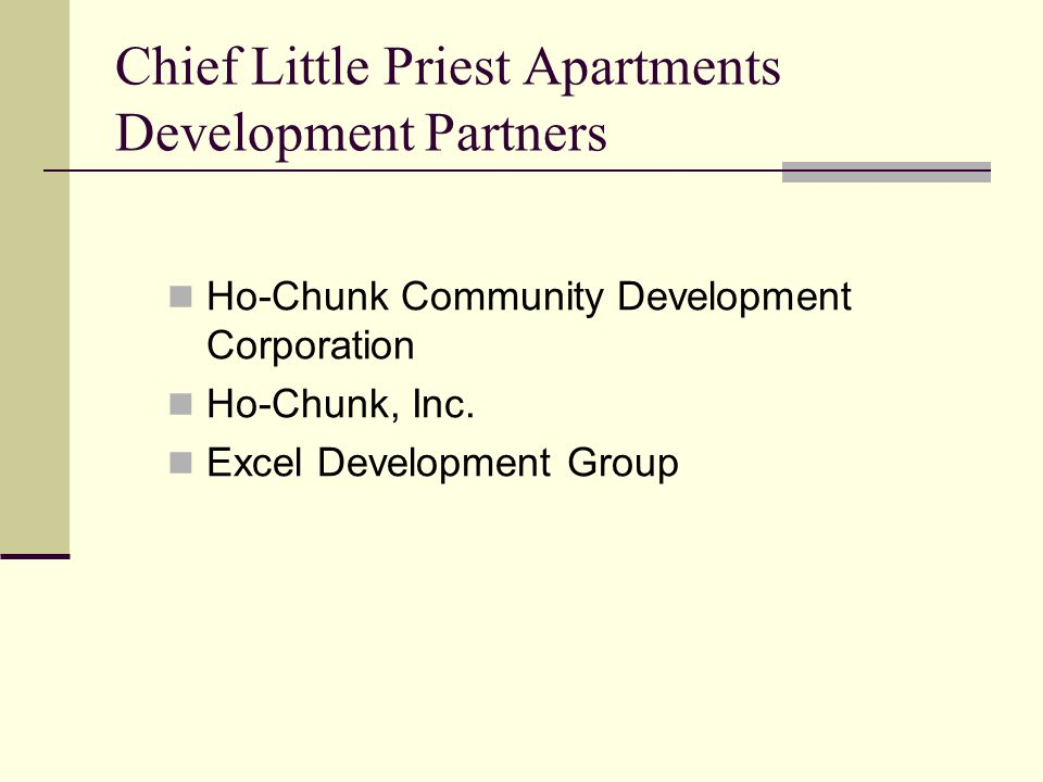 Chief Little Priest Apartments Development Partners