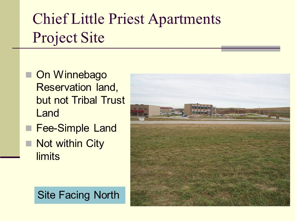 Chief Little Priest Apartments Project Site