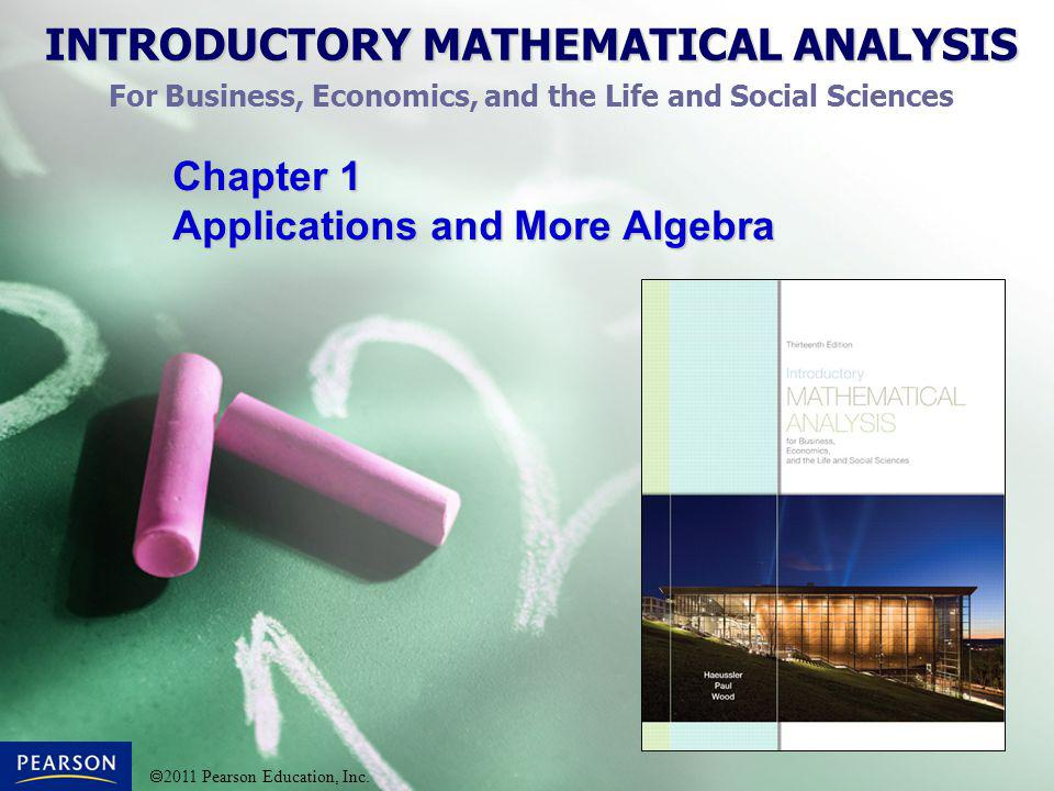 Chapter 1 Applications and More Algebra