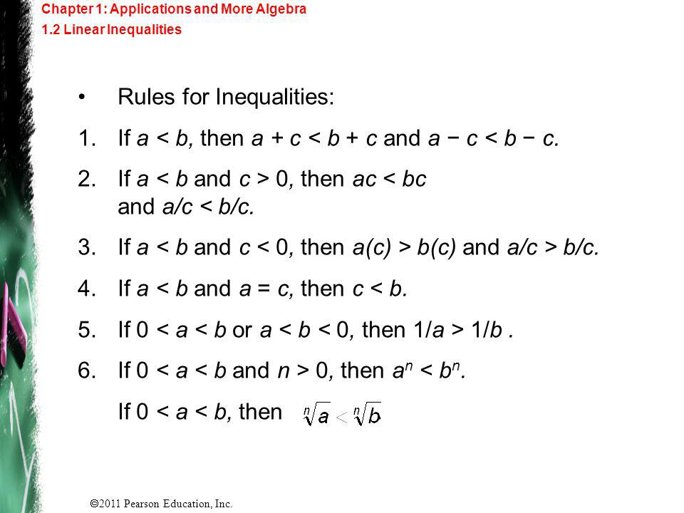 Rules for Inequalities: