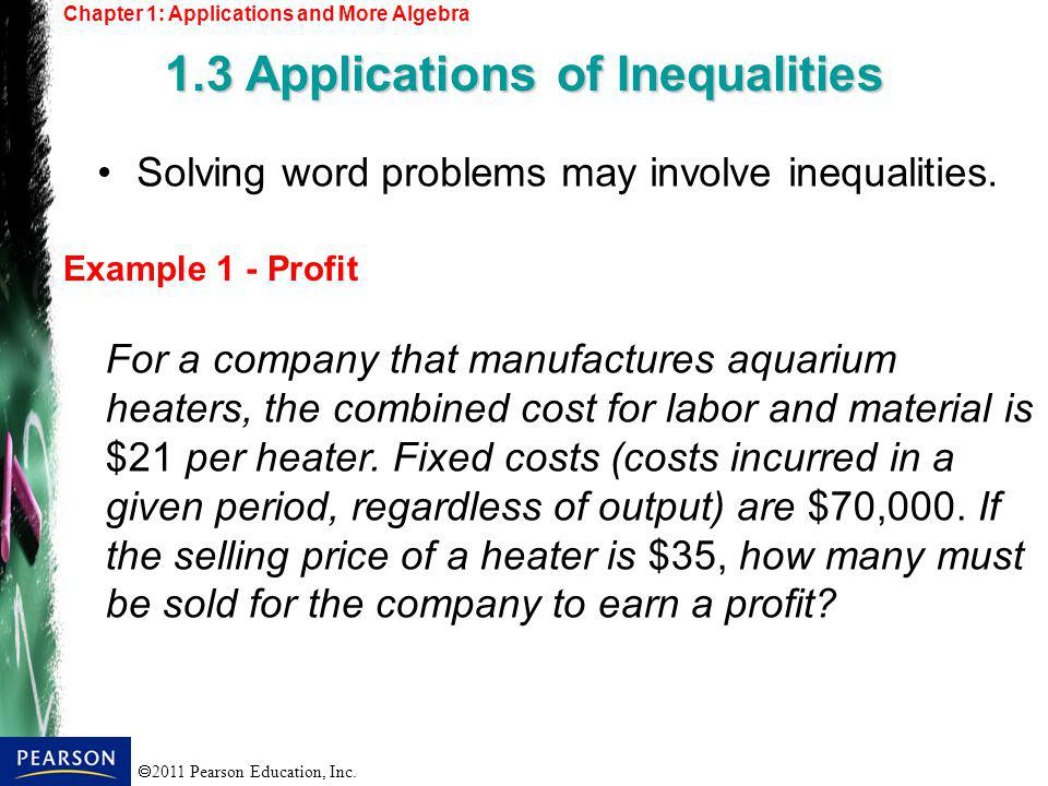 1.3 Applications of Inequalities