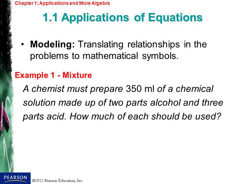 1.1 Applications of Equations