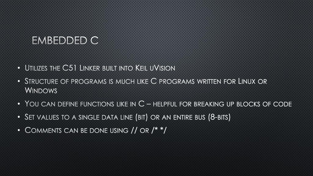 Embedded C for 8051: Primer for CompEng ppt download