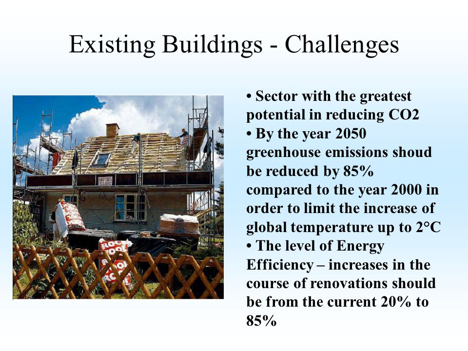 Existing Buildings - Challenges