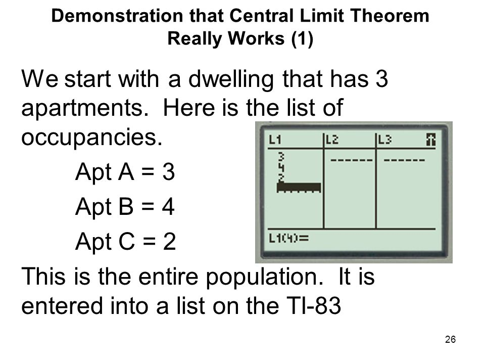 Demonstration that Central Limit Theorem Really Works (1)