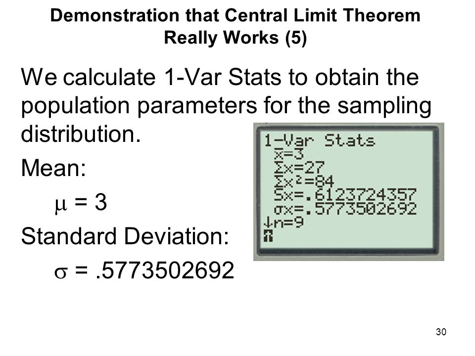 Demonstration that Central Limit Theorem Really Works (5)