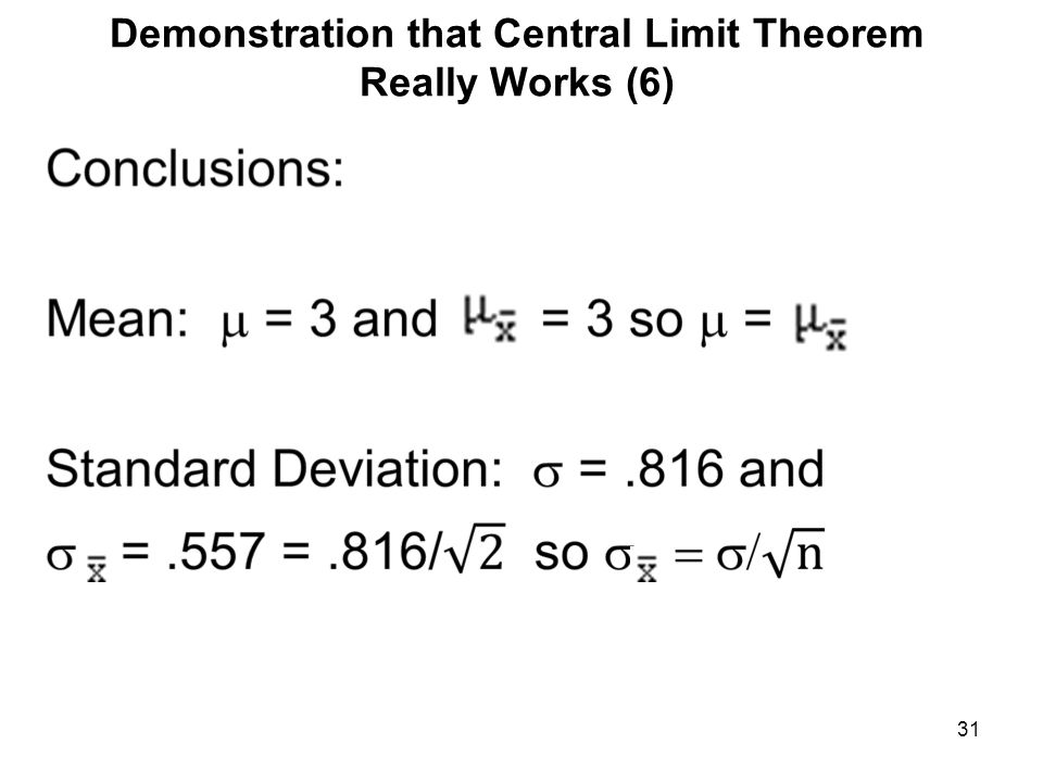 Demonstration that Central Limit Theorem Really Works (6)