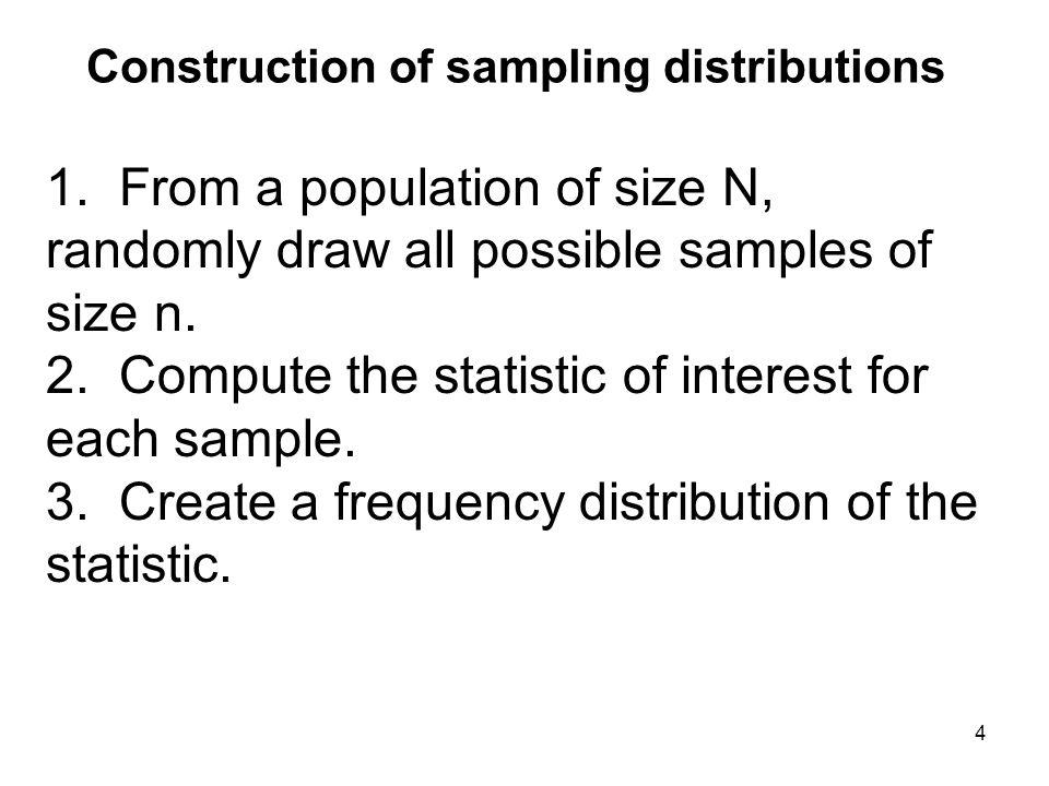Construction of sampling distributions