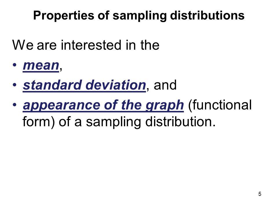 Properties of sampling distributions