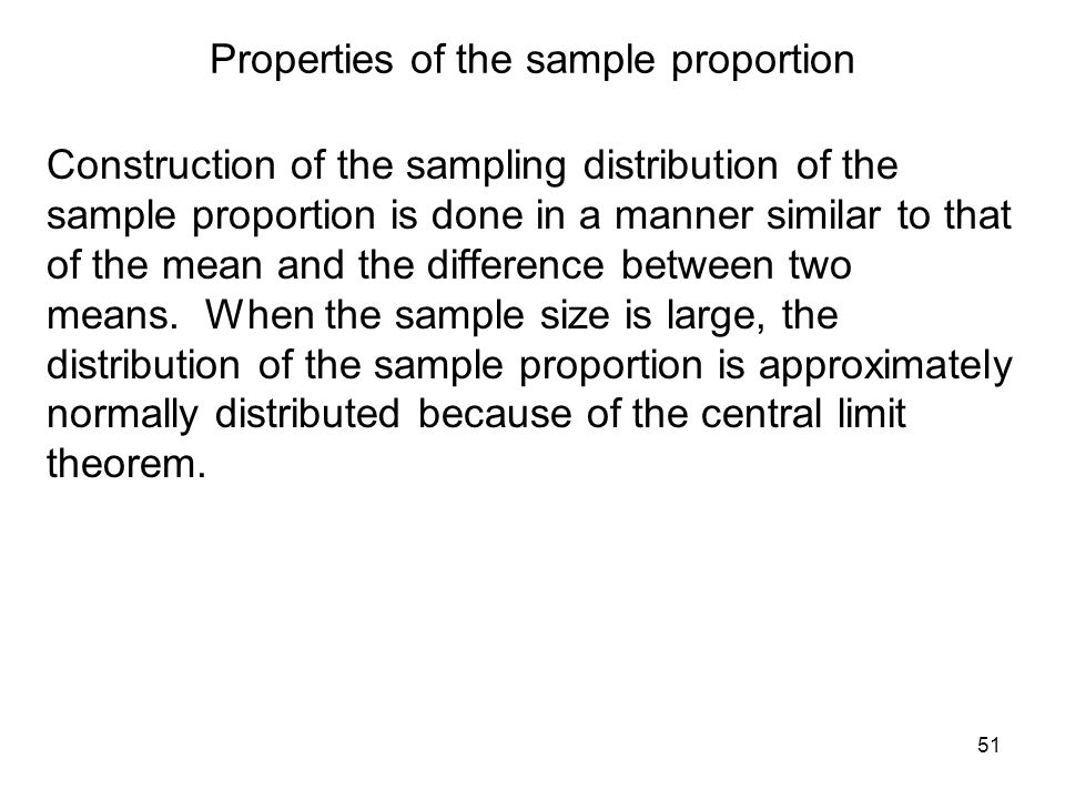 Properties of the sample proportion