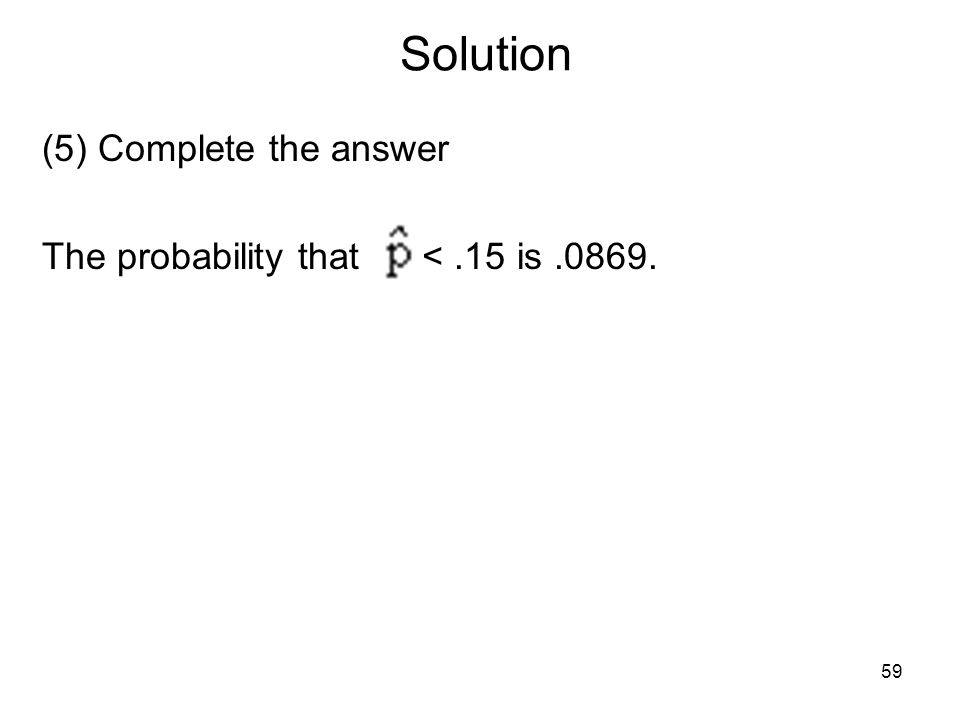 Solution (5) Complete the answer