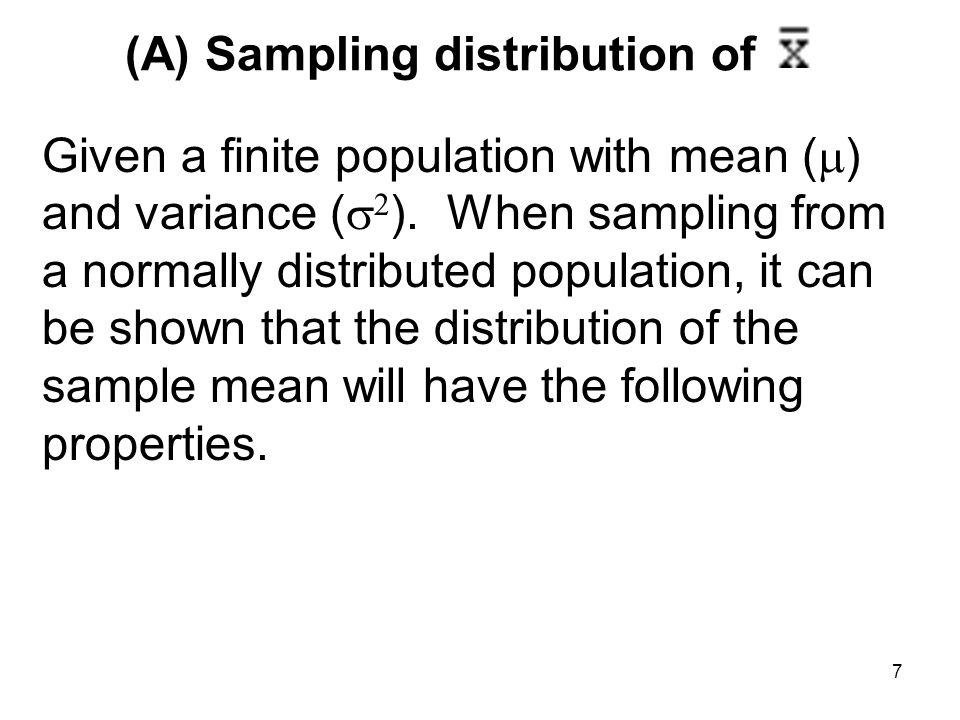 (A) Sampling distribution of