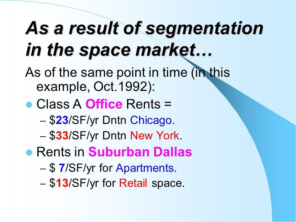 As a result of segmentation in the space market…