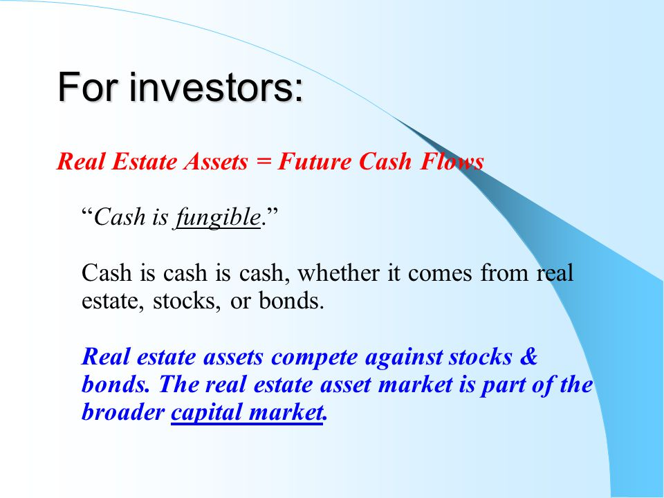For investors:
