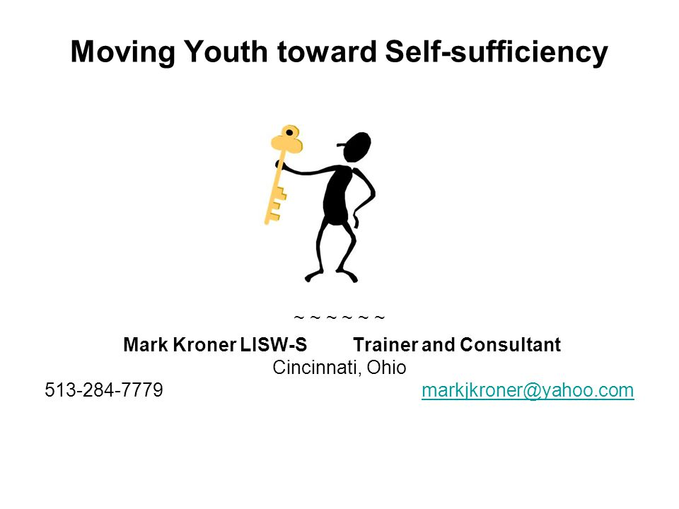 Moving Youth toward Self-sufficiency
