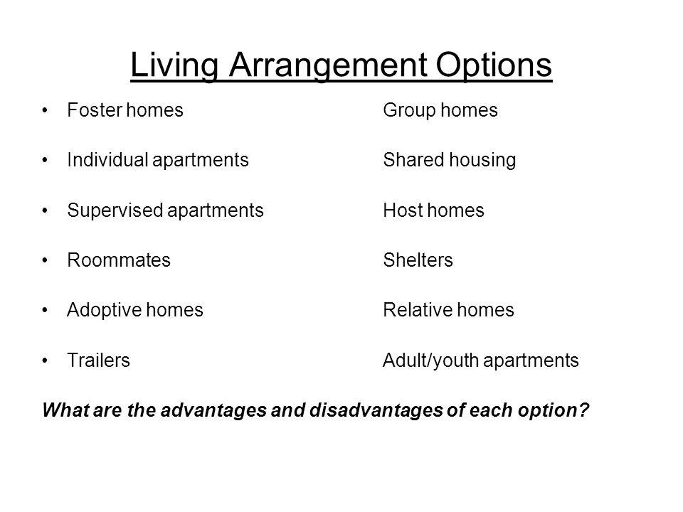 Living Arrangement Options