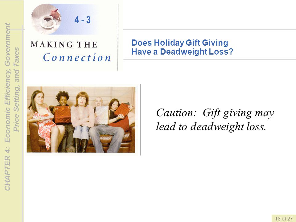 Caution: Gift giving may lead to deadweight loss.