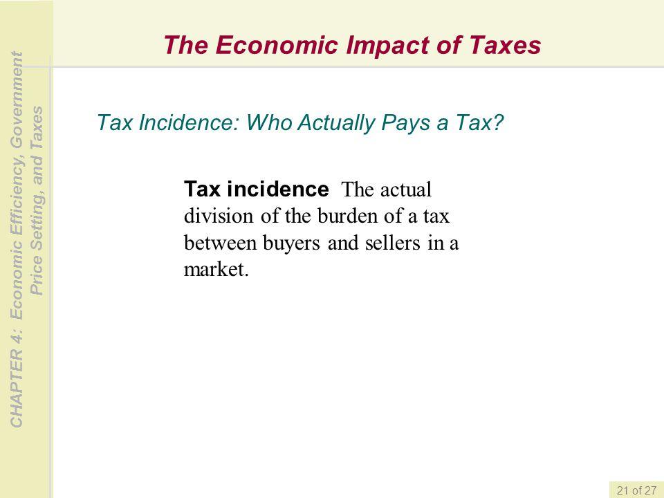 The Economic Impact of Taxes