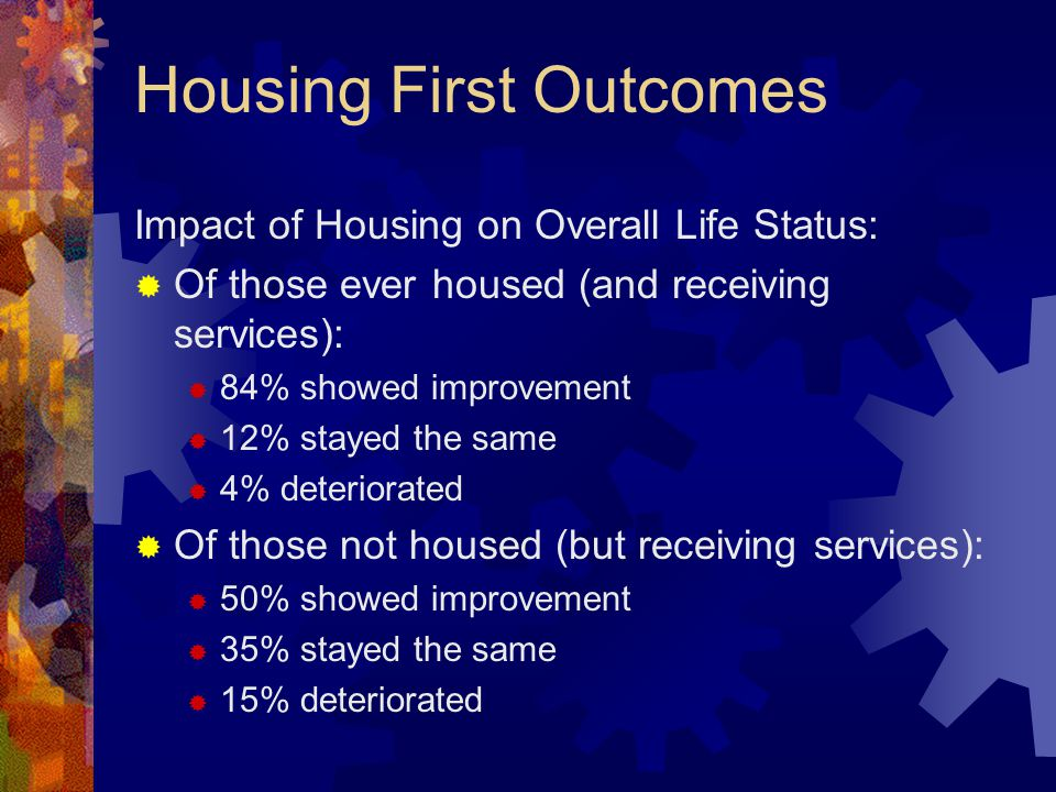 Housing First Outcomes