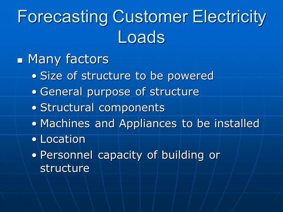 Forecasting Customer Electricity Loads