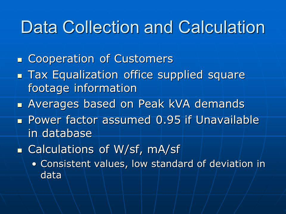 Data Collection and Calculation