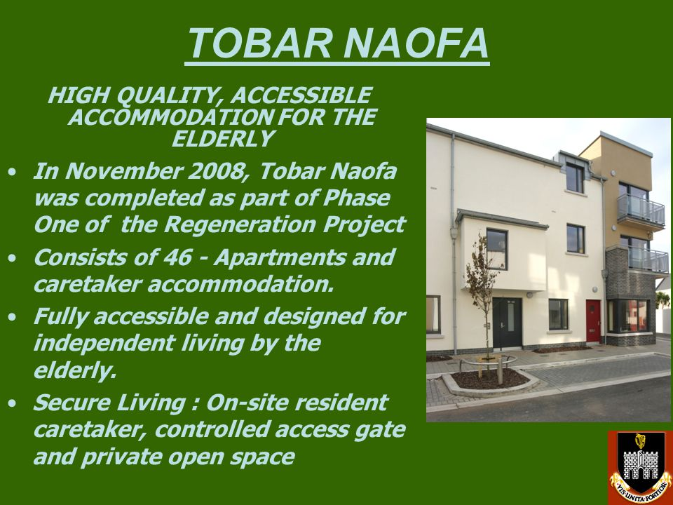 HIGH QUALITY, ACCESSIBLE ACCOMMODATION FOR THE ELDERLY