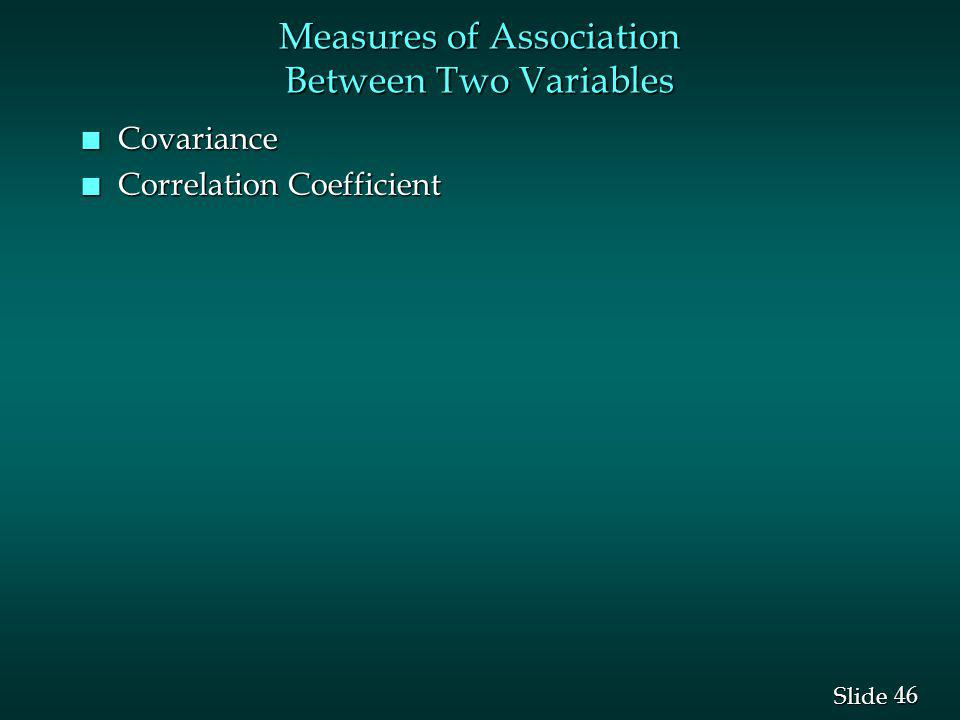 Measures of Association Between Two Variables