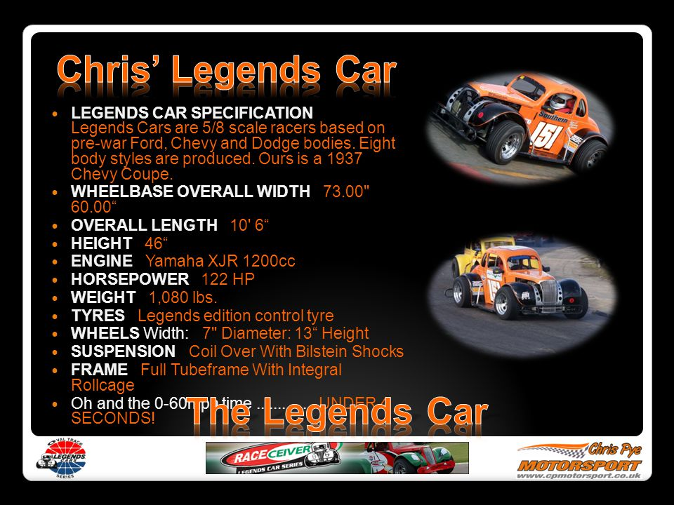 Chris' Legends Car The Legends Car