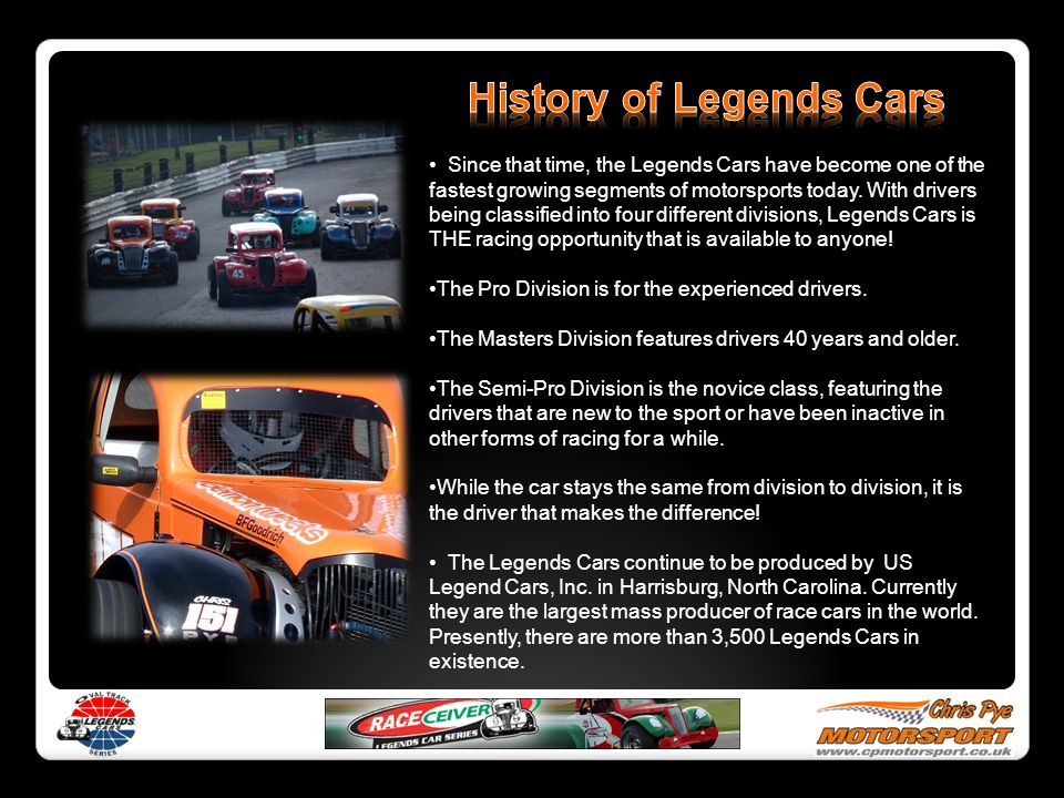 History of Legends Cars