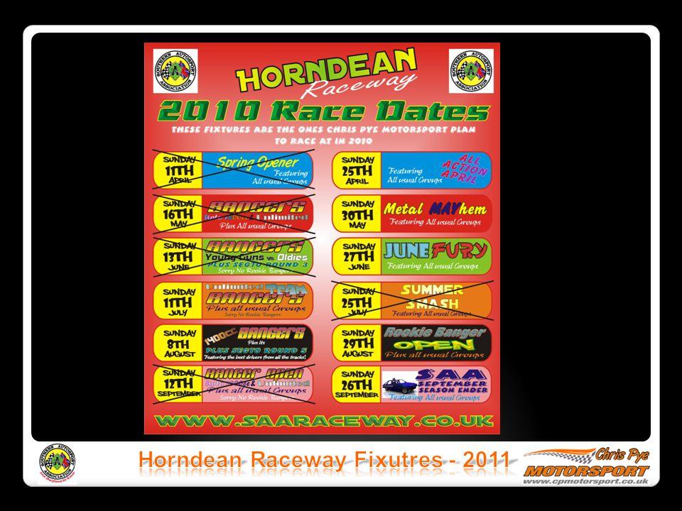 Horndean Raceway Fixutres - 2011