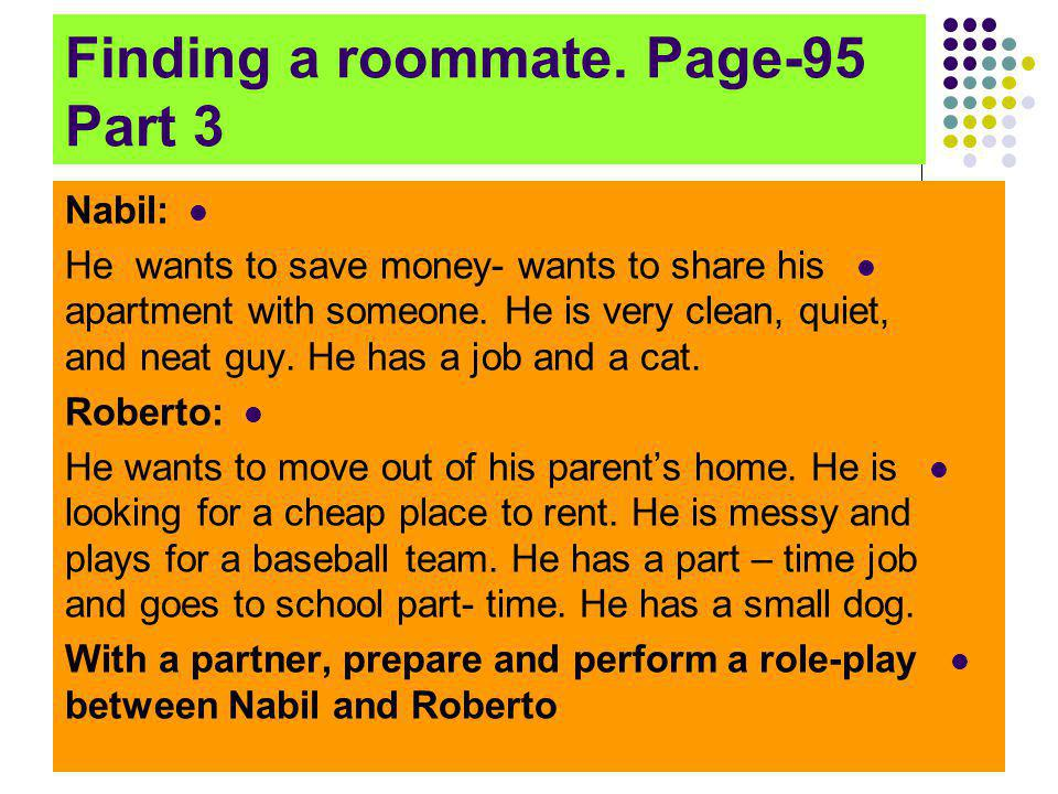Finding a roommate. Page-95 Part 3