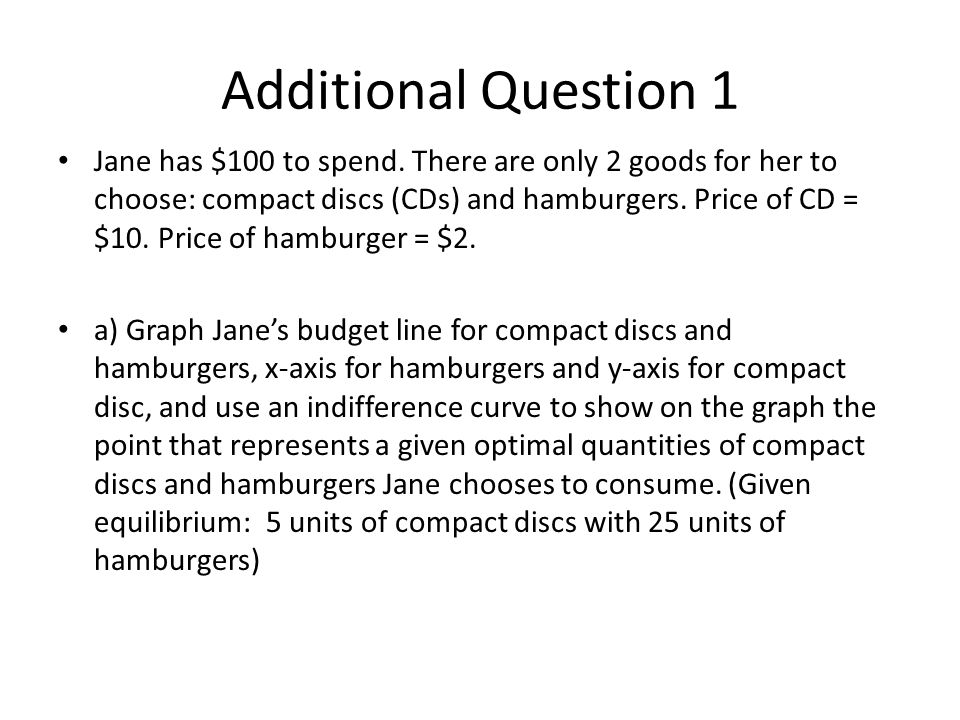 Additional Question 1