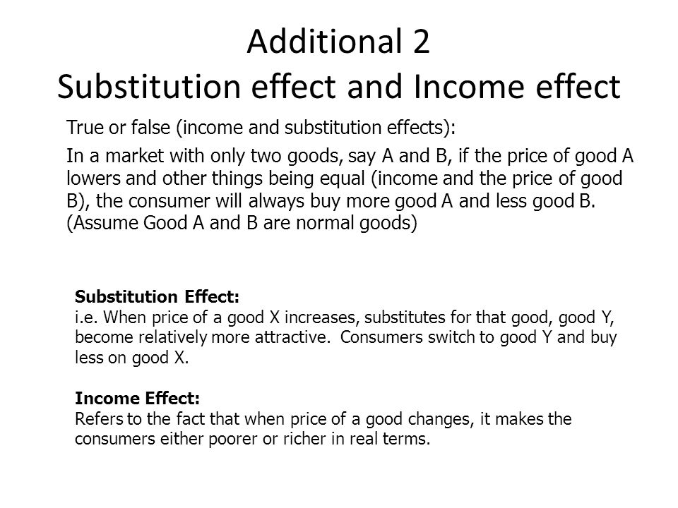 Additional 2 Substitution effect and Income effect