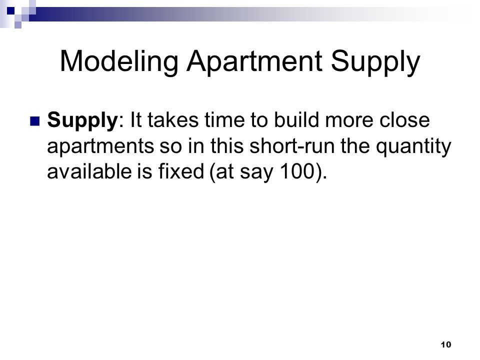 Modeling Apartment Supply