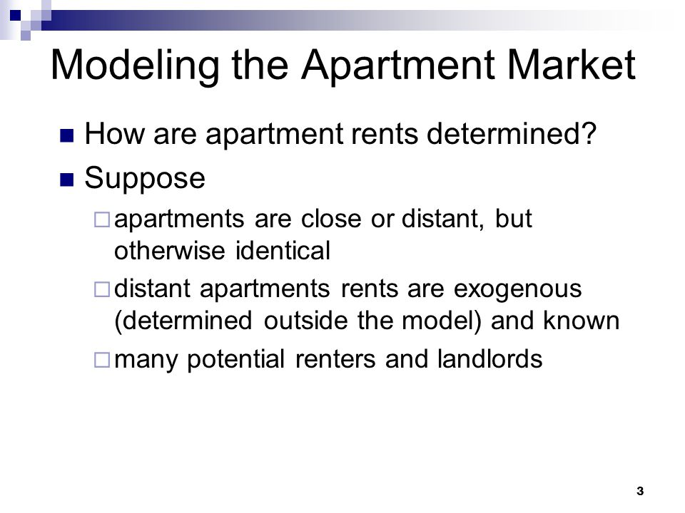Modeling the Apartment Market