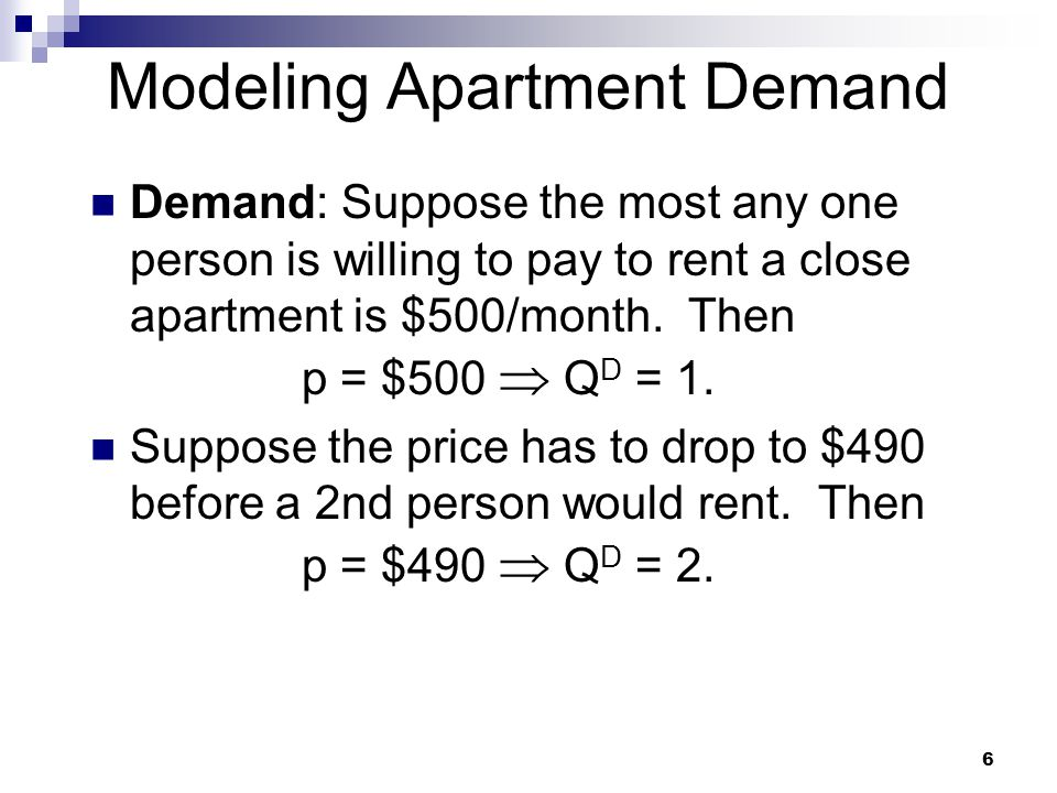 Modeling Apartment Demand