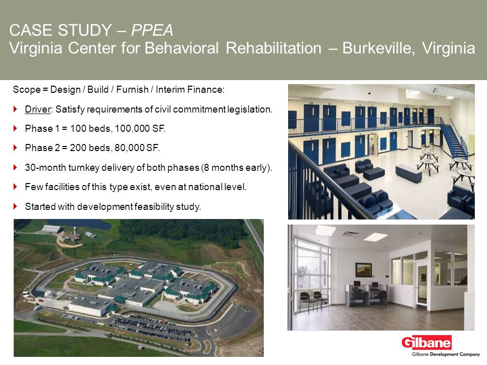 CASE STUDY – PPEA Virginia Center for Behavioral Rehabilitation – Burkeville, Virginia