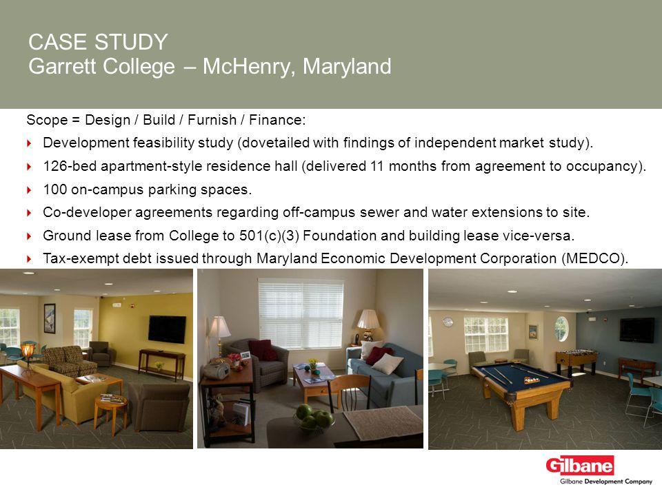 CASE STUDY Garrett College – McHenry, Maryland