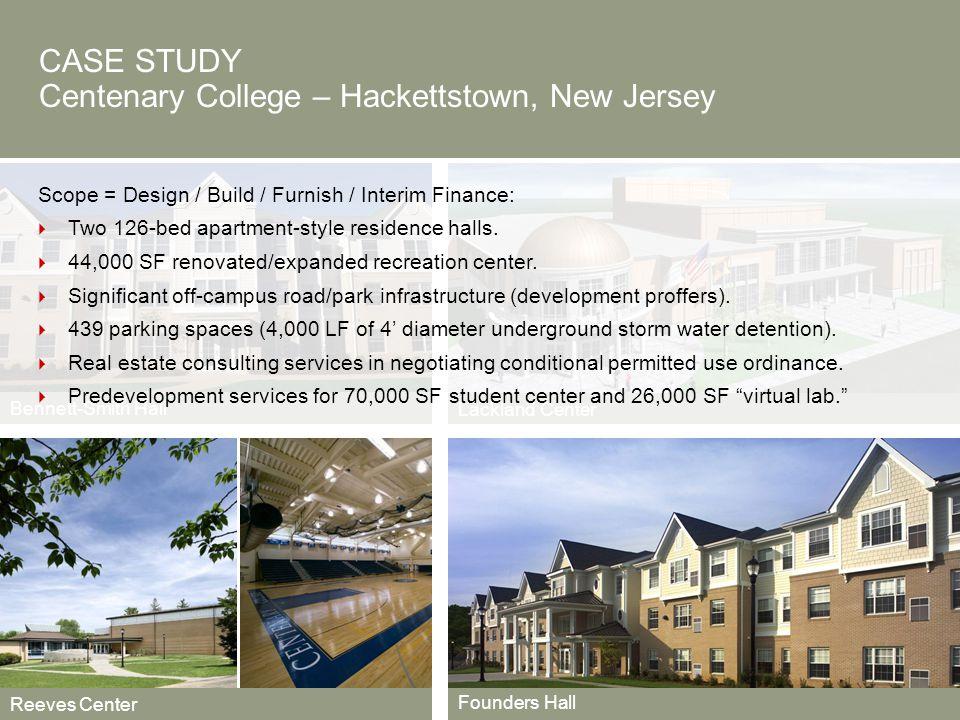 CASE STUDY Centenary College – Hackettstown, New Jersey